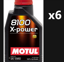 6x MOTUL 8100 X-POWER 10W60