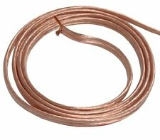 2M mètres 2x4mm2 Câble cordon pour Enceintes Haut-parleurs silicone transparent