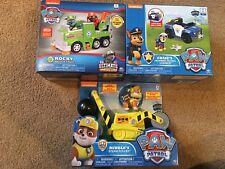Paw Patrol VEHICLES Transforming  SET / LOT Of 3 NEW Marshall Chase Rocky Rubble