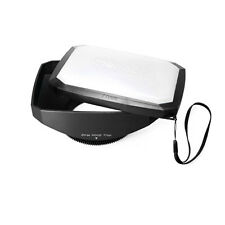 Mennon 77mm 16:9 Rectangular Wide Angle Lens Hood for Sony SLT-A37,A57, A77, A65