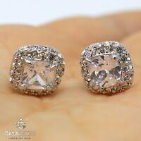 Antique Princess Cubic Zirconia Earring Women Nickel Free Jewelry 14K Gold Plate