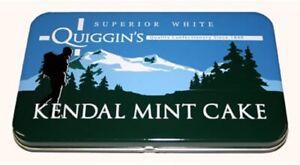 Kendal Mint Cake Gift Tin   170g Quiggins White Kendal Mintcake