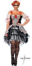 Sexy Leg Avenue SUGAR SKULL Senorita Halloween Costume Dress Plus Size 1X/2X
