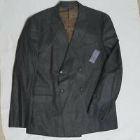 NEW Sean John XXL Brown Linen Tailored Fit Suit Blazer Jacket MSRP $178