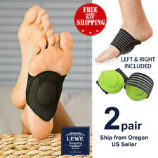 2 Pairs Foot Support Cushioned Arch Helps Decrease Plantar Fasciitis Pain