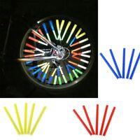 12Pcs/Set Bicycle Spoke Warning Reflective Tube Clip Bike Reflector Wheel-Lamp#