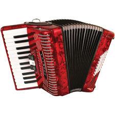 Hohner 1304 48-Bass Piano Accordion, Red