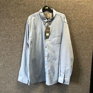 Fatface Long Sleeve Oxford Shirt Blue XXL TD110 FF 01