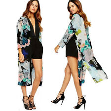 Women Long Maxi Cardigan Kimono Casual Loose Shawl Open Front Trench Coat Jacket