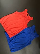 Ladies New Look Vest Tops. Red/ Blue Size 10