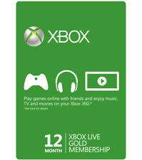 Microsoft 12 Month Xbox Live Gold Membership (VPN Required) Quick Delivery