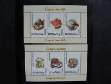 2003 - Romania - Edible and Poisonous Mushrooms, Block 332-333, MNH