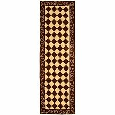 Safavieh Chelsea Diamond Brown / Ivory Wool Runner 2' 6 x 6'