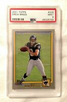 2001 Topps Drew Brees #328 Rookie Football Card PSA 9 Mint Chargers Future HOF