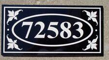 "Address plaque 9 x 18"" custom engraved 100% black granite free shipping"