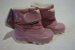 MUDDY PUDDLES BABY SNOW BOOTS - PINK - VINTEX WATER RESISTANT NYLON - UK 5 6 7 8