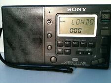 Sony ICF-SW33 Receiver Radio World Band FM/AM/SW Clock Time Japanese version