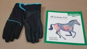 NEW WATERPROOF ADULTS SIZE MEDIUM RIDING GLOVES & FREE BOOK
