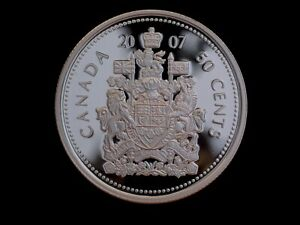 2007 Canada 'Frosted Proof' Silver 50 Cent Coin