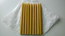 Natural, Pure Beeswax Candles Classic, handmade, 12 units