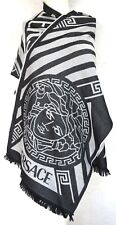 VERSACE ORIGINAL SCHAL TUCH SCARF Carré SCIARPA ШАРФ 100% WOLLE WOOL 176x42 NEW