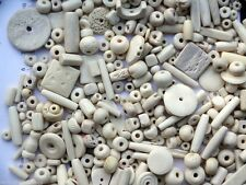 White Bone Bead Mix 250 grams (8.8 oz) ~ Over 300 Beads! Great Assortment