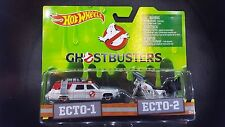 HOT WHEELS CLASSIC GHOSTBUSTERS ECTO-1 ECTO-2 2 PACK SAVE 5% WORLDWIDE FAST SHIP