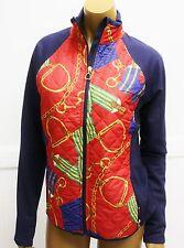 Lauren Active Ralph Lauren Coat Equestrian Red Navy Blue Jacket full zip pockets