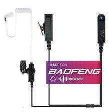 BAOFENG Headset Covert Acoustic Tube Radio Earpiece with Mic, USA WARRANTY