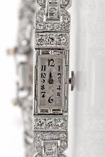 Vintage 1920s $30,000 Patek Philippe 4ct Diamond Platinum Ladies Watch