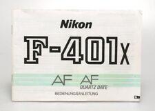 Nikon F- 401x AF AF Quartz Date Bedienungsanleitung