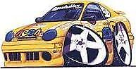 Dodge Neon ACR Racing Yellow Cartoon T-shirt scca plymouth sport in Sizes S-3XL