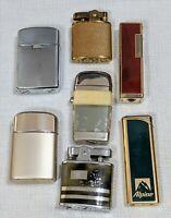 Vintage Lighter Lot of 7 Scripto Ronson Sarome Buxton Royal Star Jehvani Alpine