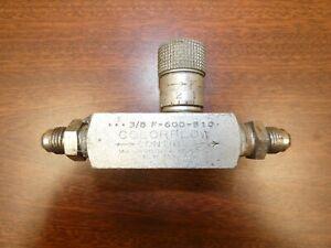 Manatrol Colorflow 3/8 valve F600 S10 Parker Hannefin