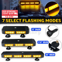 LED Car Universal Flashing Warning Strobe Light Bar Magnetic Beacon Lamp