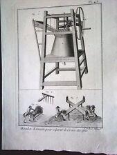 21-88-8 Gravure XVIIIe Moulin à main pour séparer le grain des épis Panckoucke