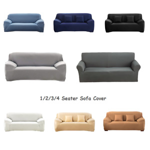 1-4 Seater Elastic Slipcover Sofa Covers Spandex Stretch Cover for Living Room