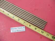 "6 Pieces of 1/4"" C360 BRASS SOLID ROUND ROD 10"" long .250"" Lathe Bar Stock"