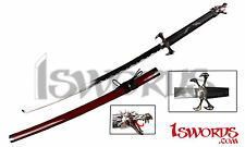 Red Torch Dragon Fantasy Samurai Katana Sword with Four Claws Style Guard