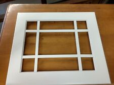 MULLION FRAME CABINET DOORS PAINTED WHITE 14 7/8 X 17 3/8 NEW OLD STOCK NO GLASS