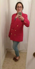 New listing Vintage Danielle Martin Red 100% Wool Club Style Blazer Sz 12