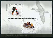 Jersey 2016 MNH Links with China Waterfowl 2v M/S Mandarin Ducks Birds Stamps