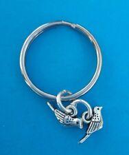 Tibetan Silver Keyring/Bag Charm BIRD/SWALLOW Birthday Gift. BIRDS.