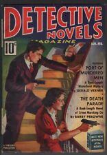Detective Novel 1938 January, #1.   Pulp