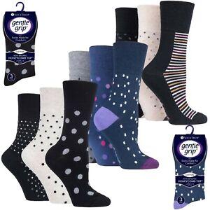 SockShop Gentle Grip Ladies 6 Pairs Cotton Non Elastic Top Diabetic Socks UK 4-8