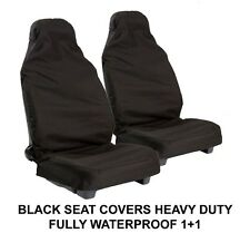 SEAT ALTEA FREETRACK 4 07-09 BLACK WATER RESISTANT FRONT SEAT COVERS(1+1)