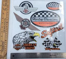 Lot Of 7 Vintage Harley-Davidson Decals, Inside Window,Fatboy-Racing-Softail!!!