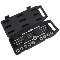 20 Piece Metric Tap And Die Set Heavy Duty High Strength Carbon Steel With Case