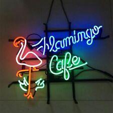 "Flamingo Cafe Neon Sign 20""x16"" Light Lamp Beer Bar Display Artwork Windows"