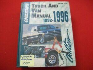 CHILTON'S US, CANADIAN & IMPORT TRUCK, PICKUP & VAN REPAIR MANUAL 4WD 1992-1996